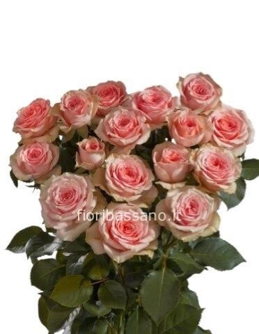 Mazzo Di Fiori E Piante.Rose Colore Rosa Da Comporre In Mazzo Per Numero Di Steli